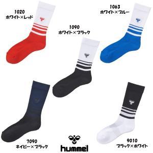 ヒュンメル hummel ジュニア〜一般 サッカー ミドルソックス 靴下 トレーニング HAG7043|futabaharajuku