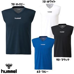 ヒュンメル hummel メンズ サッカー ノースリーブインナーシャツ Vネック HAP5024|futabaharajuku