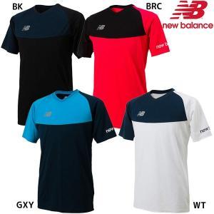 ニューバランス プラクティスシャツ  メンズ サッカー プラクティスシャツ  胸と袖の色づかいが特徴...