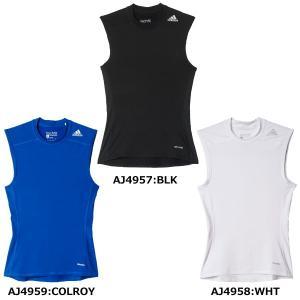 アディダス adidas テックフィットBASEノースリーブ LOZ72 サッカー ウェア インナーシャツ メンズ|futabaharajuku