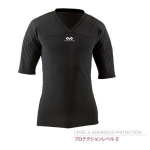 マクダビッド サッカー キーパーウェア インナーシャツ パッド付き 半袖インナー M7733-BK futabaharajuku
