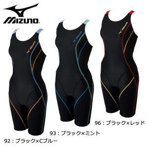 ミズノ MIZUNO オールインワン (4分丈) N2JG6325 水着 フィットネス オールインワン レディース|futabaharajuku
