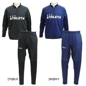 アスレタ ATHLETA トレーニングピステスーツ 裏起毛 SP167 サッカー フットサル トレーニングウェア 上下セット プルオーバー ロングパンツ メンズ|futabaharajuku