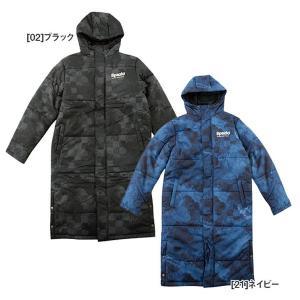 スパッツィオ spazio 中綿ベンチコート ロングコート TP0500 サッカー フットサル メンズ|futabaharajuku