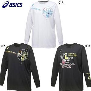 アシックス asics XB978N W'S プリントTシャツLS バスケットボール シャツ|futabaharajuku