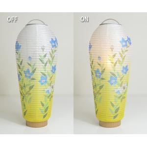 提灯 コードレス LED 小珠(こだま) 桔梗 電池灯付 盆提灯 激安・格安岐阜提灯|futakiya-shop|03