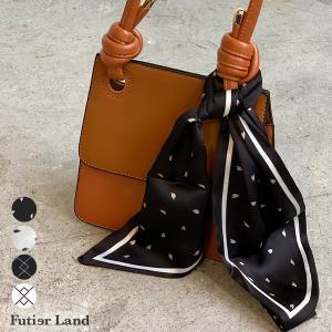 スカーフ 柄 ドット柄 幾何学模様 ロングスカーフ ファッション雑貨 アクセサリー 韓国 ファッション  選べるスリムロングスカーフ|futier-land