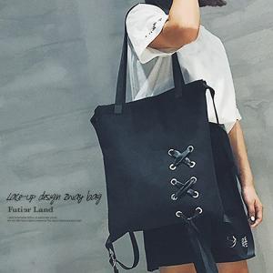 レースアップデザイン2wayバッグ【即納】|futier-land