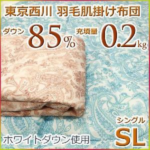東京西川 ダウンケット 羽毛肌掛け布団 ホワイトダウン85% MD4220 シングルサイズ|futon-kingdom