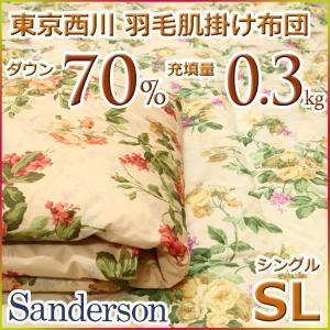 東京西川 西川 洗える 羽毛肌掛け布団(ダウンケット) ダウン70% SD4230 シングルサイズ|futon-kingdom