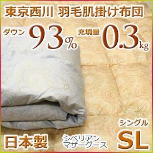 東京西川 ダウンケット 羽毛肌掛け布団 シベリアンマザーグースダウン93% KV2811 シングルサイズ 日本製|futon-kingdom