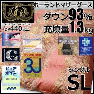 ポーランドホワイトマザーグースダウン93%羽毛布団 プレミアムミルヴァーナ2 増量タイプ(シングルサイズ )プレミアムゴールドラベル futon-kingdom