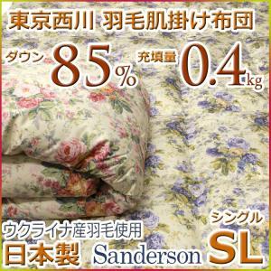 東京西川 西川 洗える 羽毛肌掛け布団(ダウンケット) ウクライナ ダウン85% SD6220 シングルサイズ 日本製|futon-kingdom