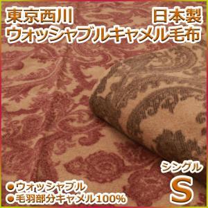 洗えるキャメル毛布 東京西川 日本製 FA7500|futon-kingdom