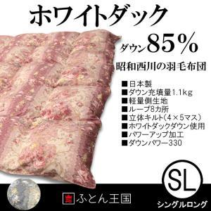 昭和西川 羽毛布団 ダックダウン85%羽毛布団 FJ94z8s シングルサイズ|futon-kingdom