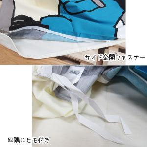 日本製【京都西川】ベビー掛けふとん用カバー いつも笑顔で くまと白くま ぶたとパンダ 風船とチンパンジー102×128cm futon-no-doremi 04