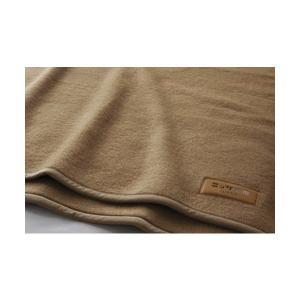 ニッケ キャメル100% 毛布 シングル 140×200cm CAML30005 日本製