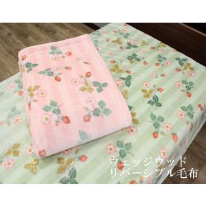 東京西川の合わせ毛布。 新柄のウエッジウッド毛布。  2枚合わせの綿入りタイプで、暖かい。 とてもな...