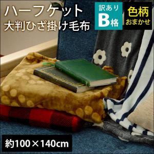 訳あり ハーフケット 140×100cm 大判ひざ掛け毛布 膝掛け毛布 ブランケット 色柄・品質おまかせ futon