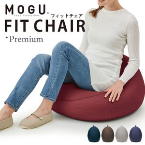 MOGU モグ プレミアム ビーズクッション フィットチェア 本体+専用カバー セット 日本製|futon