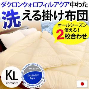 洗える布団 掛け布団 キング 日本製 オールシーズン インビスタ クォロフィルアクア ウォッシャブル掛布団 futon