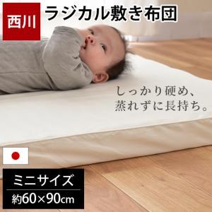 ベビー布団 ミニサイズ 西川 日本製 ローズラジカル敷き布団 60×90cm 専用シーツ付き2点セット|futon
