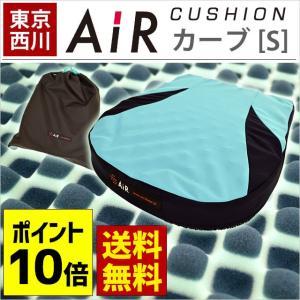 東京西川 AiR エアー ポータブル クッション カーブ S 西川エアー 専用ケース付き