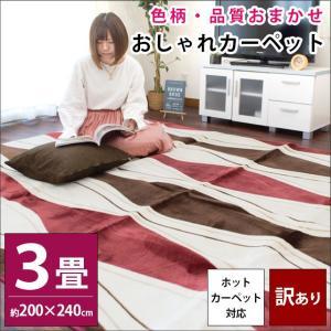 訳あり品 ラグ 3畳 200×240cm ホットカーペット対応 ラグマット 色柄・品質おまかせ 秋冬ラグ|futon