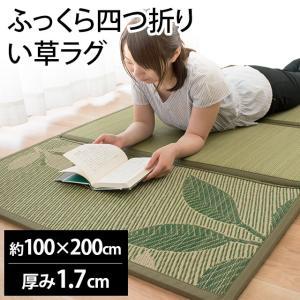 い草ユニット畳 一畳 約85×170×厚み1cm 折りたたみ...