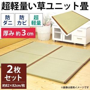 い草ユニット畳 2枚組 一畳 約82×164×厚み3cm 極厚 防カビ 防ダニ 超軽量 置き畳 楽らく|futon
