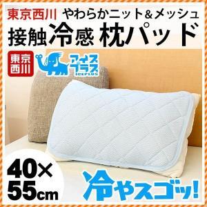 接触冷感 ひんやり枕パッド 東京西川 アイスプラス 冷やスゴッ 夏 ニット&裏メッシュ枕カバー 洗えるピローパッド futon