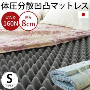 マットレス 敷布団 敷き布団 シングル 日本製 高硬度プロファイルウレタン 硬め 指圧 敷きふとん ソフラン|futon