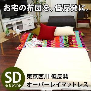 東京西川 低反発マットレス セミダブル オーバーレイ 凹凸プロファイル ベッドパッド 敷パッド 専用バッグ付き|futon