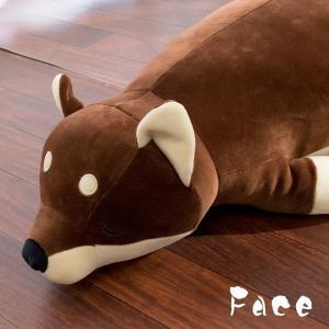 豆柴クッション 柴犬 ぬいぐるみ抱き枕 全長約...の詳細画像4