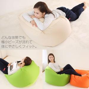 ビーズクッション Lサイズ  カバー付き 60×60×40cm 送料無料 ビーズ クッション ソファ 椅子|futoncolors|02