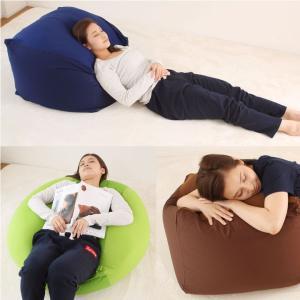 ビーズクッション Lサイズ  カバー付き 60×60×40cm 送料無料 ビーズ クッション ソファ 椅子|futoncolors|03