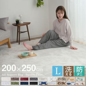 ラグ カーペット 洗える ラグマット 200×250 防ダニ 滑り止め付 フランネル ホットカーペット対応 ウォッシャブル|futoncolors