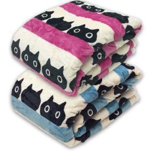 ATSUKO MATANO マタノアツコ 合繊肌掛けふとん みつめる猫柄 西川 シングルサイズ:140×190cm カラー:ピンク、ブルー|futonhouse