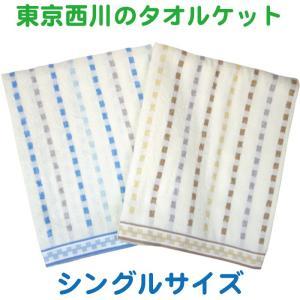 東京西川 ジャガード刺し子調 タオルケット シングルサイズ 140X190cm|futonhouse