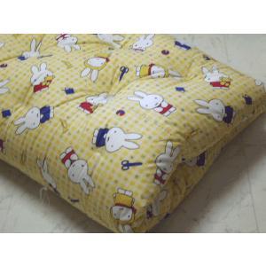 ベビー 敷布団 綿わた100% ミッフィー フロアーサイズ:80×130|futonlando