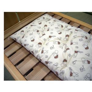 ベビー 敷布団 綿わた:80×130 ブラウン・ ミッフィー|futonlando