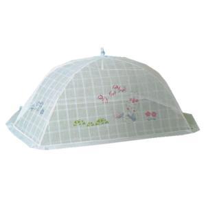 ベビー蚊帳 ワンタッチ折りたたみ 日本製 ぼかしブルー 168×105|futonlando