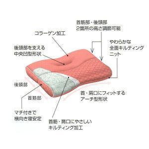 肩楽寝 西川 枕 もっと肩楽寝枕 クリーム/中から低|futonlando|03