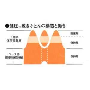 西川 敷布団 健圧敷布団 シングル/ベージュ ソフト100N(日本製)|futonlando|02
