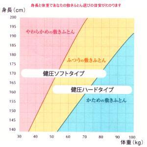 西川 敷布団 健圧敷布団 シングル/ベージュ ソフト100N(日本製)|futonlando|03