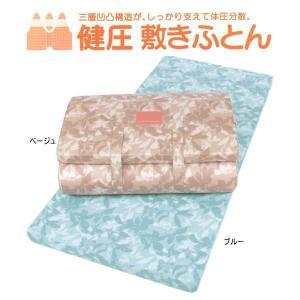 西川・健圧敷き布団 ダブル/ブルー  100N ソフト|futonmall