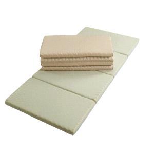 西川・敷布団 ダブル 超軽量 スリープコンフィー ハード 4つ折り 日本製|futonmall