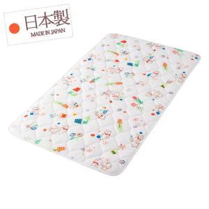 お昼寝マット ( ベビー 約70×120cm )  ガーデニングファミリー W 日本製 フジキ お昼寝用マット 赤ちゃん|futonmura