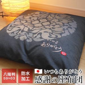 感謝の座布団 八端判 59×63cm 日本製 母の日 父の日 敬老の日 贈り物|futonnotamatebako