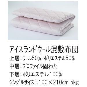 東京西川 アイルランドウール混敷きふとん シングルサイズ|futonshop-miyakoshi